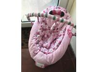 Minnie Mouse music and vibrating baby bouncer chair.