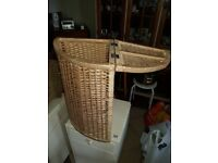 Hinged Wicker Corner Storage Unit
