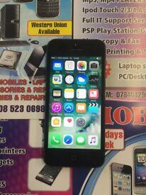 iphone 5s black 16gb unlock good condition