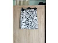 Black Bodycon Skirt with Cream Lace Overlay. Forever 21 Size Small