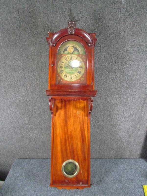 ANTIQUE CLOCK FRIESIAN LARGE DUTCH WALL CLOCK BRASS DIAL GEORGIAN circa 1800