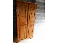 Ducal pine two door wardrobe