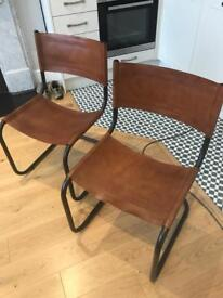 Chaise Cuir Valmy leather chair. Brand New! X2