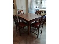 Dining Table Barley Twist Legs with matching chairs