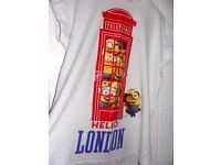 Ladies Minion Hello London T-Shirt, Size 16