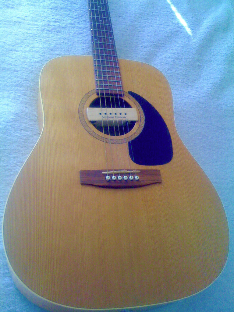 Solid Wood Canadian Made Norman Acoustic Guitar With Seymour Duncan