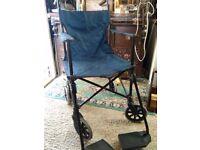 Travel folding wheelchair