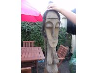 TRIBAL CARVED WOODEN FERTILITY STATUE
