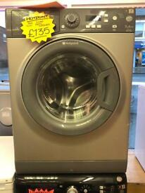 HOTPOINT 7KG DIGITAL SCREEN NEW MODEL WASHJNG MACHINE IN GREY
