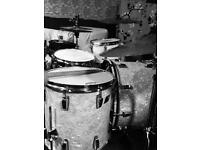 Ludwig Blue and Olive badge 3 ply shell kit