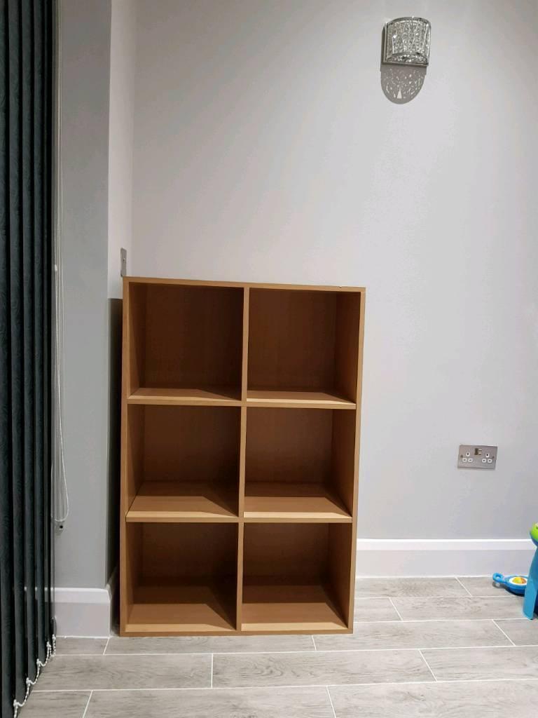 6 cubed storage unit oak wood