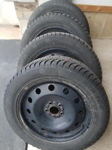 LIKE NEW LINCON MKZ  WINTER TIRES 225 / 55 / 17  ON HUBCENTRIC OEM QUALITY STEEL WHEELS