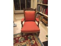 Two Victorian standing arm chairs