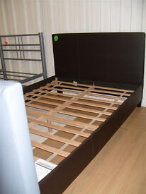 Constance Small Double Bed Frame - Chocolate (07851770393)