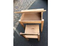 Kids wooden desk & chair