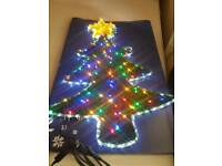 2 BRAND NEW TINSEL TREE ROPE LIGHT