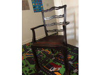 vintage wooden chair for sale; antique item