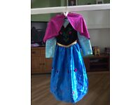 Disney Store Frozen Anna Dress and Cape Age 5-6 years