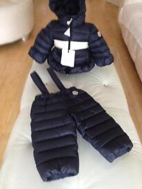Moncler Babys authentic snow suit. Brand new with tags was £360 want £160