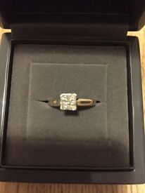 Size J.5 18 ct white gold and diamond engagement ring