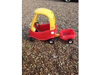 Little Tikes car and trailer smoby