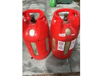 2 lightweight 20 litre gas bottles