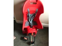 Children's bike seat with extra adapter