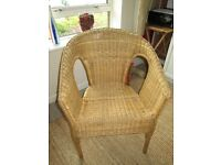 Wicker Chair sound condition. Could be used for upcycling project