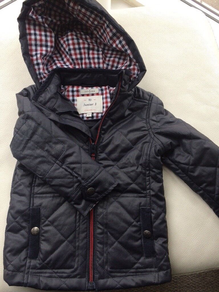 Boys Waxed Style Jacket/Coat - Junior J (Jasper Conran)