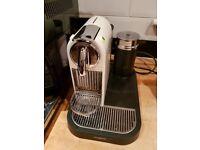 Nespresso Citiz & Aeroccino 2 coffee machine cream