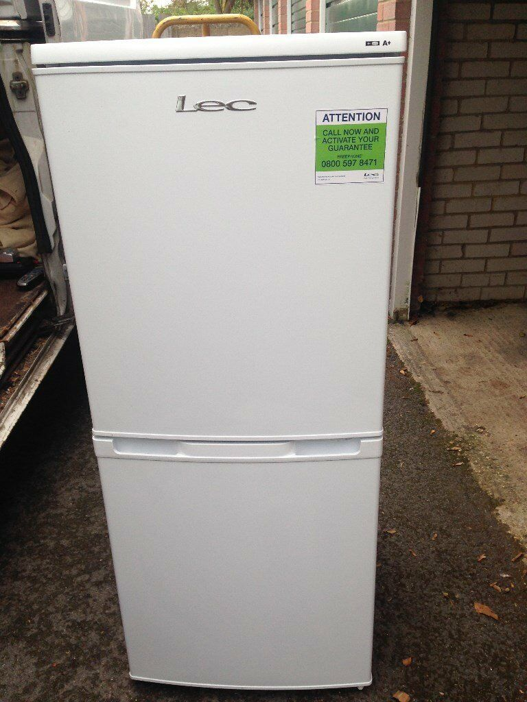 7 Months Old Lec T5039W Fridge Freezer A+ Rated 50cm Combi 90 Litres/45 Litres in White Hardly Used