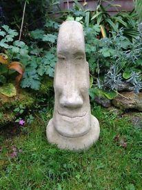 "Easter island head 16"" tall weathered £12"