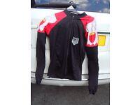 Inner nylon motorcycle jacket with plastic protection size medium