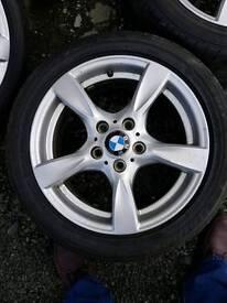 Bmw alloys 5 stud good tyres