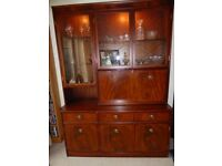 Solid Mahogany Display/Drinks cabinet by Beresford and Hicks of England