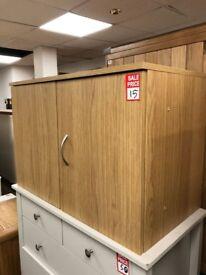 2 door oak chest