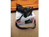 Canon 6d with 24-105mm lens, battery grip, case, spare battery and UV filter