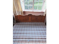 King size divan bed base (no mattress) with pine headboard