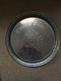Queen's Silver Jubilee 1977 Silver Plated Tray