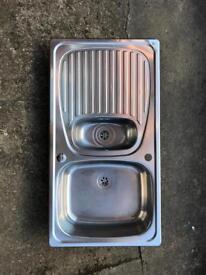 Stainless Steel 1 1/2 Bowl Kitchen Sink