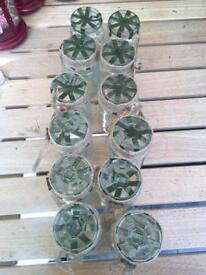 Jars for floral arrangements
