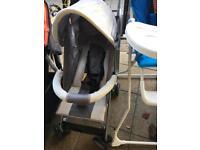 Grey pushchair