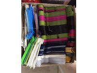 For sale box with 250 clothes hangers various colours and sizes