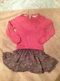 Next girls jumper dress/ all in one jumper & skirt 3-4yrs