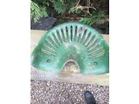 Vintage tractor / implement seat cast iron