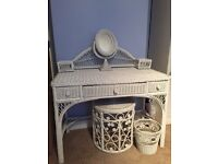 Gorgeous white wicker dressing table