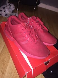 Red Adidas ZX Flux
