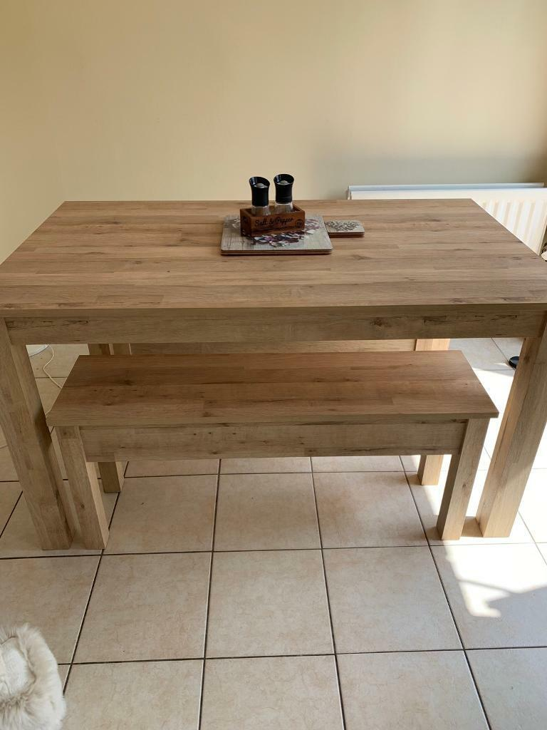 Tremendous Next Dining Table With Benches In Northampton Northamptonshire Gumtree Pdpeps Interior Chair Design Pdpepsorg
