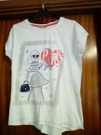 2 girls t-shirts age 11