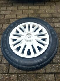4 winter tyres-15inch VW original trim